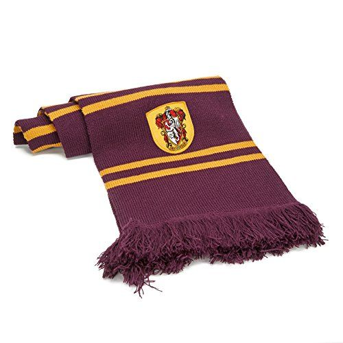 "The one and only scarf worn by the Gryffindor students since ""Harry Potter and the Prisoner of Azkaban"". Harry, Ron and Hermione scarf. Ultra-soft scarf, very long and thick, this Gryffindor scarf will protect you from the cold in Hogwarts. This officially licensed long scarf is made..."