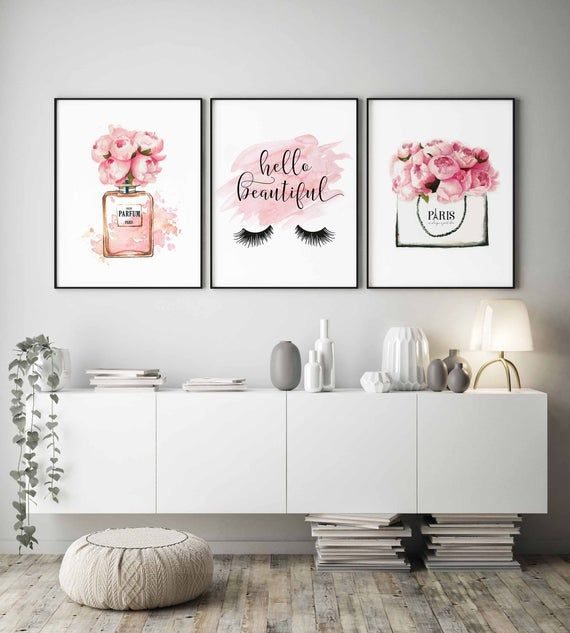 Fashion Wall Artlashes Printhello Beautifulgirls Bedroom Etsy Girls Bedroom Art Wall Decor Bedroom Paris Decor Girls Room