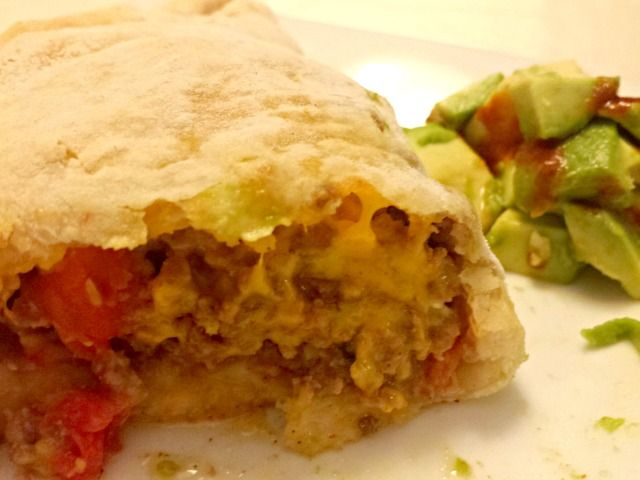 Enjoying Mexican Taco Pockets recipe