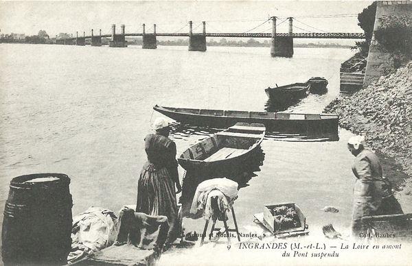 les lavalndières de la Loire au XIXè