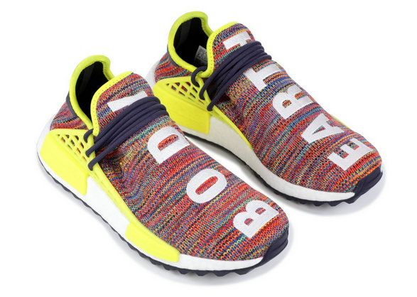a50f04eb0f18 2017-2018 New Arrival Womens adidas PW Human Race Nmd TR Pharrell Noble ink  Bold Yellow Footwear White ac7360