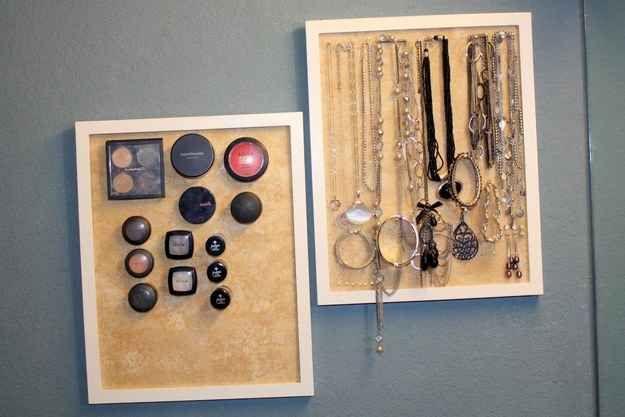 Corcho magnético para organizar maquillaje y accesorios
