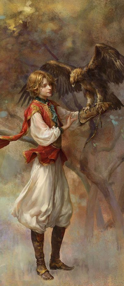 altair by rogner5th on deviantART (cropped for detail)  Falconry was wildly popular in the middle ages. Owning a falcon was about as common as owning a car is today.