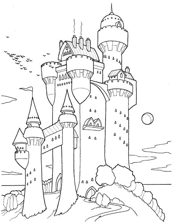 9 Remarquable Coloriage Chateau Stock Coloriage Chateau