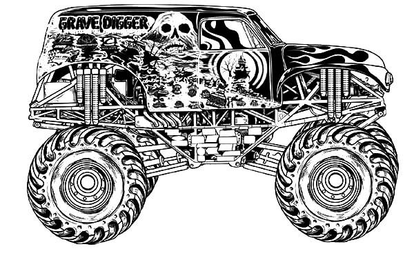 monster jam racing anf freestyle coloring pages  color