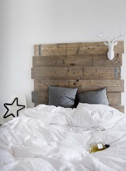 1000 images about wooden headboards on pinterest diy headboards ace hotel and wooden headboards - Hoofdbord wit hout ...