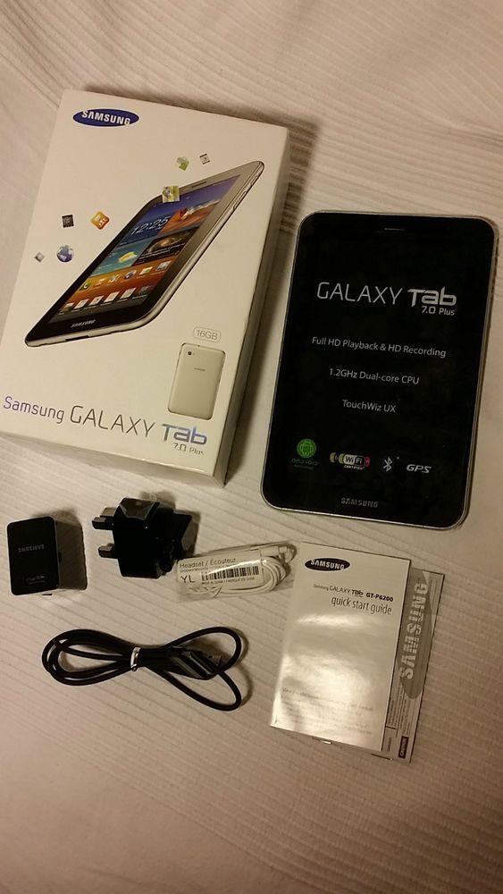SAMSUNG GALAXY TAB 7.0 PLUS 3G Wi-Fi 16GB WHITE - UNLOCKED MOBILE PHONE TABLET £ 100