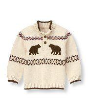 Janie and Jack - Bear Fair Isle Sweater