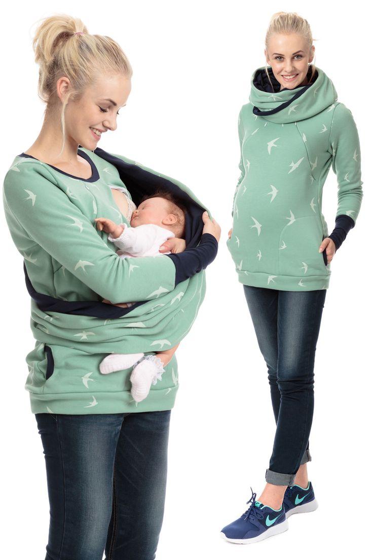 Unser kuscheliger 3in1 Pullover 'Wings of Love', der während der schwangerschaft, sowie danach und davor getragen werden kann. Er ist ein perfekter Begleiter für die Stillzeit, denn die eingebaute Stillfunktion ist nicht sichbar,...