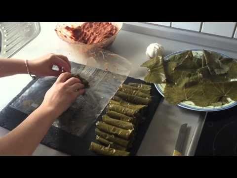 Buzluk poşeti ile kolay yaprak sarma şekli, etli sarma sarımı