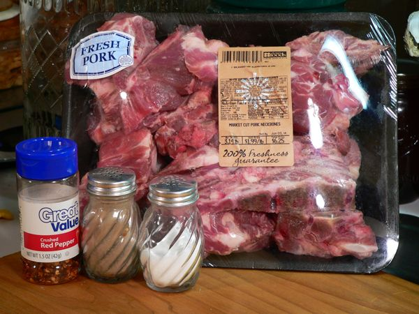 Pork Neck Bones - real Soul Food - the one food she cooks that most everyone says it's the best they've ever had.