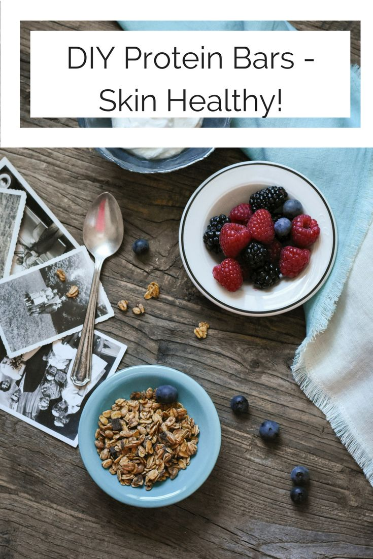 DIY Skin Healthy Homemade Protein Bar #proteinbar #acneclearing #homemadeproteinbar #diyproteinbar #healyourfacewithfood