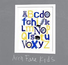 ST. LOUIS BLUES abc nursery art print