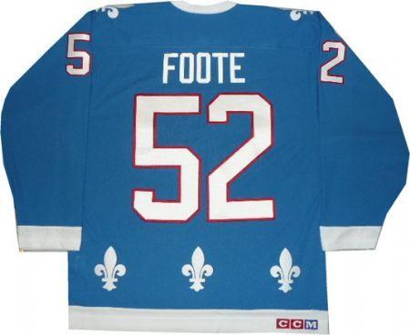 Quebec Nordiques Banners | Quebec Nordiques Jersey Adam Foote Vintage Blue Team Classics ...