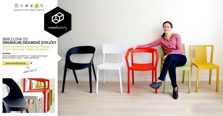 "Španielske dizajnové stoličky z polypropylénu. Ekologicky vyrábaný materiál je pevnejší a trvácnejší, ako ""klasické plastové"" stoličky. K tomu originálny dizajn, pestré farby a vrstva UV ochrany."