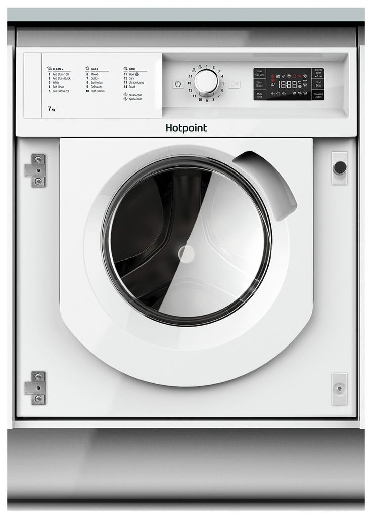 Hotpoint Biwmhg71284uk 7kg 1200 Spin Washing Machine White In 2020 Integrated Washing Machines White Washing Machines Washing Machine