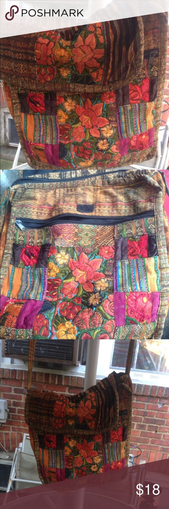 Bo ho chic pocketbook ADORABLE Pattern like new Gentle used bo ho chic purse. Just stunning work. Great for nights out or concerts. Ales a big statement. No rips or tears. Bags Crossbody Bags
