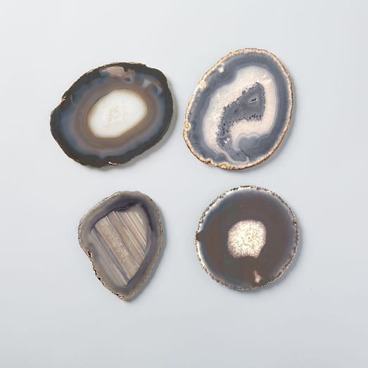 West Elm Agate coasters, set of 4 $59