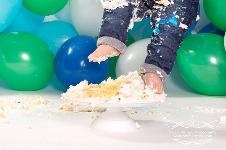 Piccoli Ricordi Photography | Fotografi Gravidanza e Bambini a Milano - Il Cake Smash di Andrea - Fotografo Cake Smash Milano Pavia Rozzano
