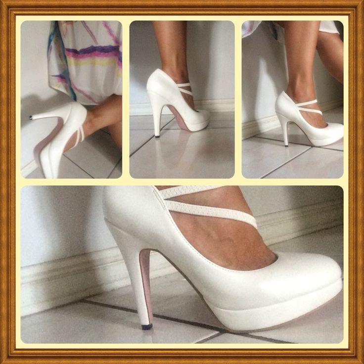 #Heels #whiteheels #chic www.alofadesigns.com