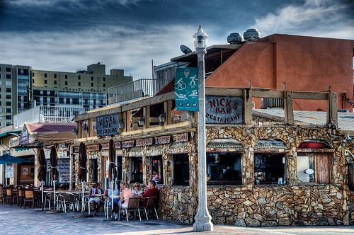 Nick's Bar-Hollywood Beach, Florida.  I once saw a guy passed out on the bar clutching an Emmy.