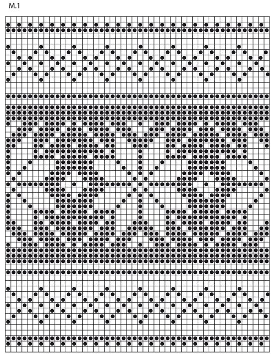 "Knitted DROPS pot holders with Nordic pattern for Christmas in ""Muskat"". ~ DROPS Design SNOWFLAKE CHART"