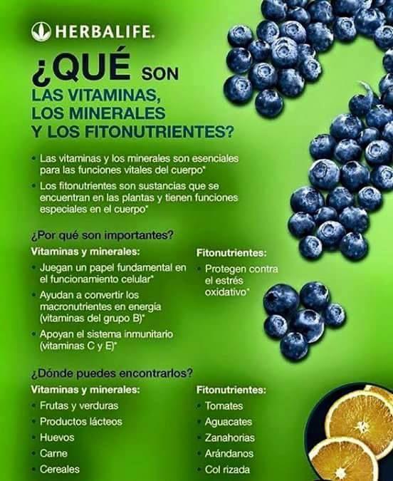 ¿Vitaminas, Minerales y Fitonutrientes? #herbalife #productosherbalife