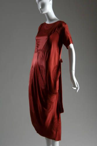 Callot Soeurs, Ruby Silk Jacquard Afternoon Dress, France, c. 1917. (View 1)