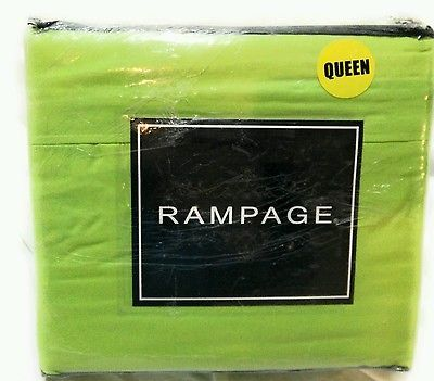 RAMPAGE Queen Size Sheet Set Lime Green  New Softer with Each Wash