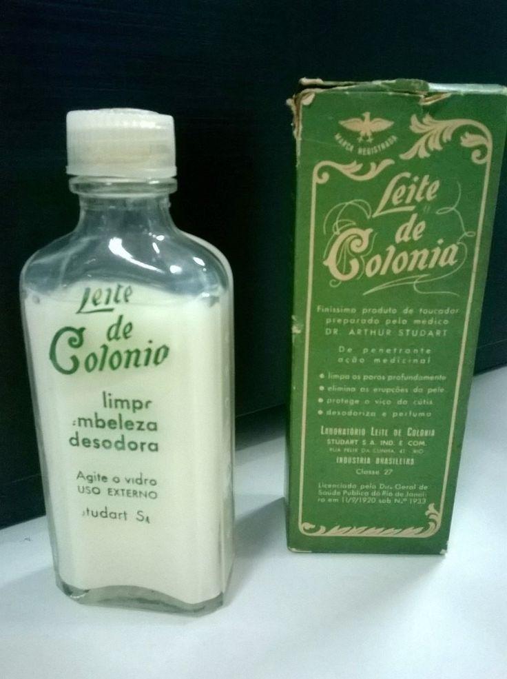embalagem antiga leite de colonia perfume desodorante antigo