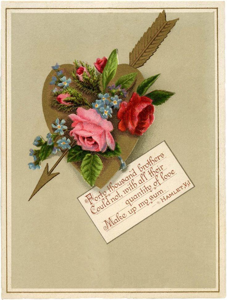 Vintage Golden Heart Valentine Image! (via Bloglovin.com )