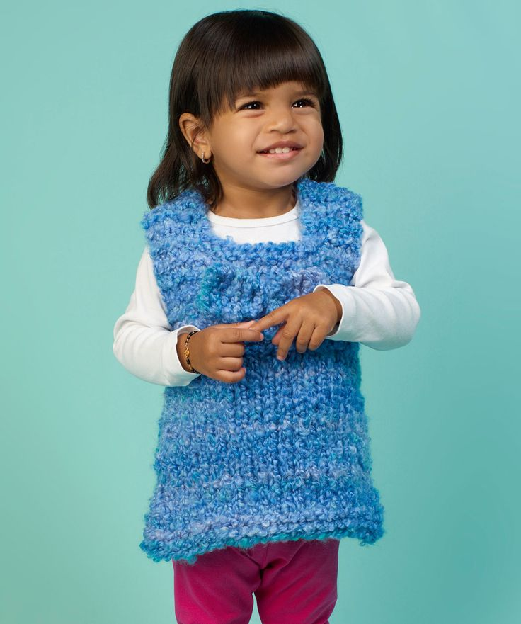 Knitting Patterns For Baby Tunics : Tunic for Baby Free Knitting Pattern from Red Heart Yarns Knitting Pinter...