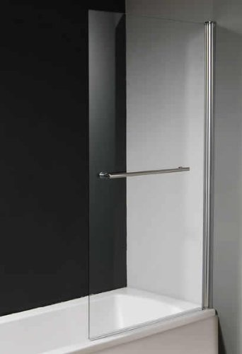 Square Over Bath Glass Shower Screen with Towel Rail (Universal)  Price : £140.00 http://www.showeringforall.com/Square-Glass-Shower-Screen-Universal/dp/B009HOSQFG