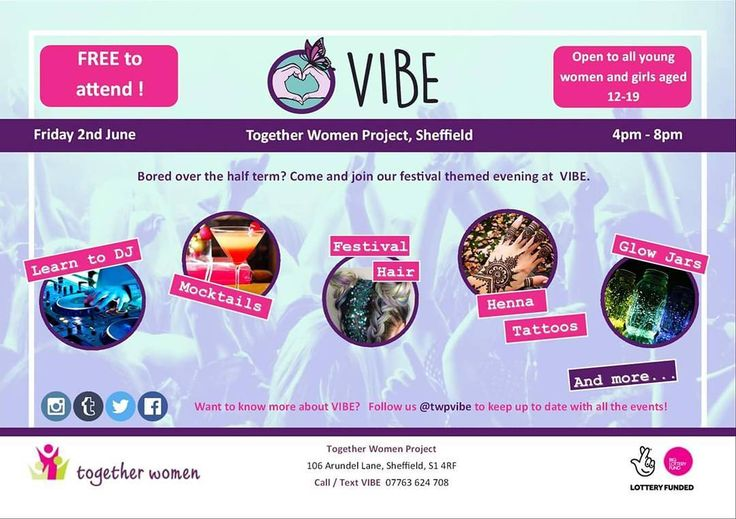 We're excited for our VIBE festival event tomorrow 4-8pm.  Come and finish you half term with our girls only party evening.  Learn to DJ  Make Mocktails  Festival Hair  Henna Tattoos  Glow Jars  Festival Hot Dogs  Badge Making  Friendship Bracelets  Flower Crowns  and more  Open to all girls aged 12-19  FREE to attend  #sheffieldissuper #sheffevents  http://ift.tt/2rY9vpz  #VIBE #womenandgirls #voiceandinfluence #girlpower #party #halfterm #dj #mocktails #hair #glitter #henna #badgemaking…
