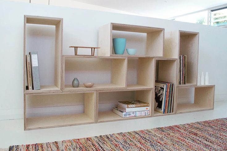 """218 Likes, 10 Comments - Raw Edge Furniture (@rawedgefurniture) on Instagram: """"Simple and versatile plywood box shelving...available in raw Birch ply and black or white formply,…"""""""