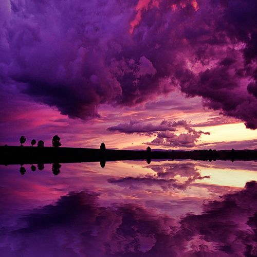 Purple: Purple Rain, Purple Sunsets, Colors, Reflection Photography, Beautiful, Diaries, Cloud, Heavens, Purple Sky