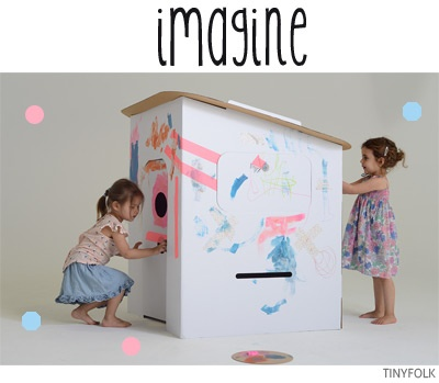Bondville: TINYFOLK cardboard play houses and puppet theatres for kids