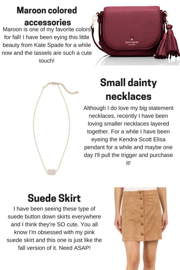 Pastel N Pink: Current Fall Favorites