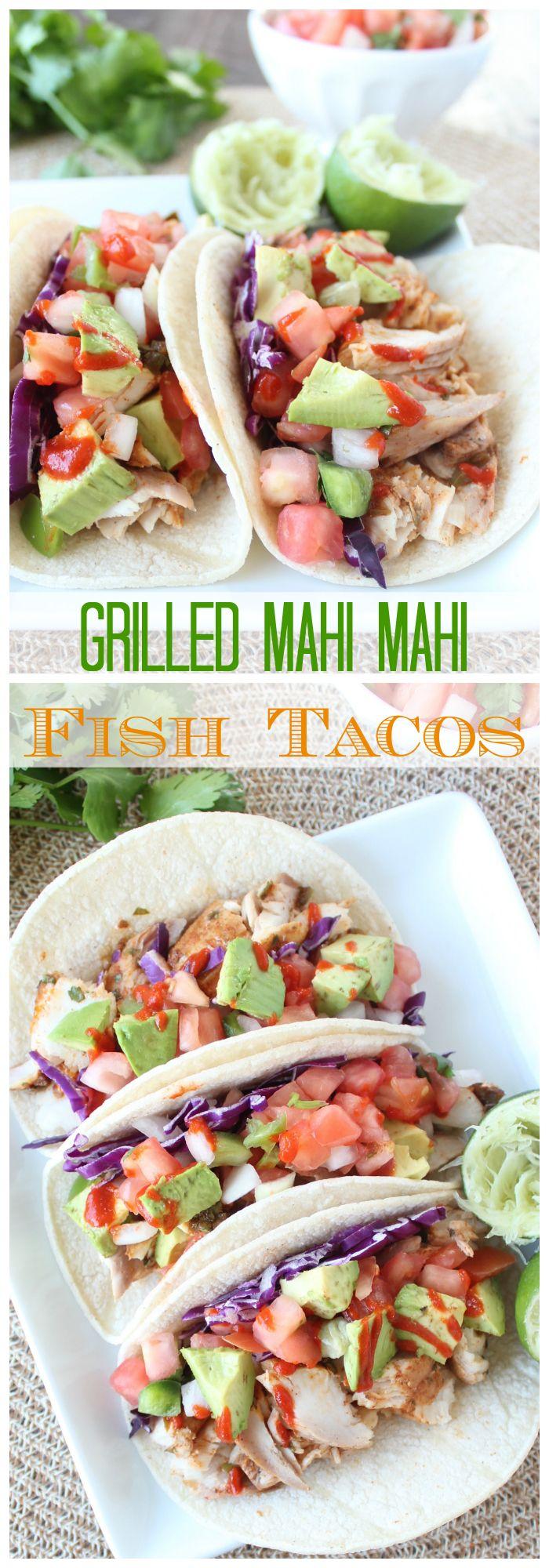 Cilantro Lime Jalapeno Mahi Mahi Fish Tacos Grilled on the #WorldMarket Mini BBQ Grill