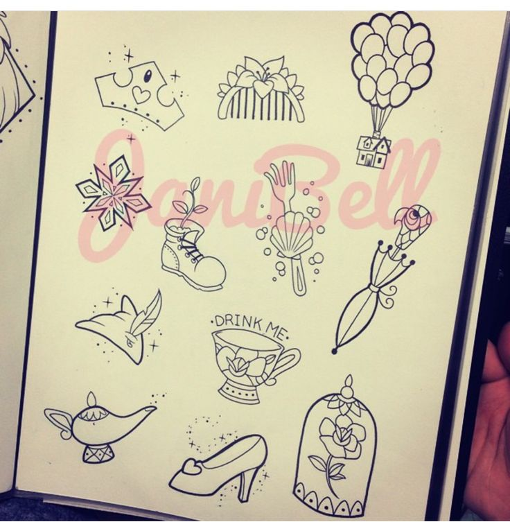 Small Disney tattoos, Would be very tempted by the rose from beauty and the beast