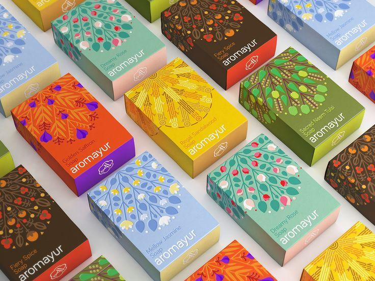 Aromayur - Identity & Packaging Design on Behance
