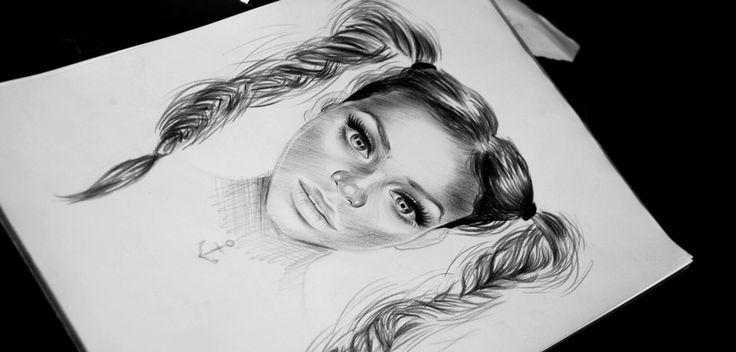 Rihanna with Barbara Palvin Mix   María José Artgumedo | Art Illustration  https://www.facebook.com/mariajoseartgumedo