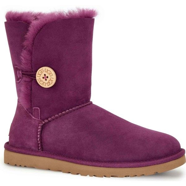 UGG Australia Women's Bailey Button Aster Boots ($165) ❤ liked on Polyvore featuring shoes, boots, ankle boots, purple, bootie boots, lightweight shoes, light weight boots, cuffed boots and purple boots