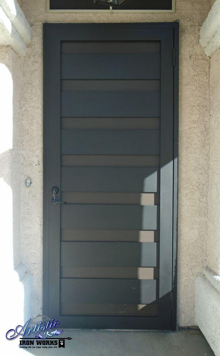 la brea wrought iron security screen door model sd0315