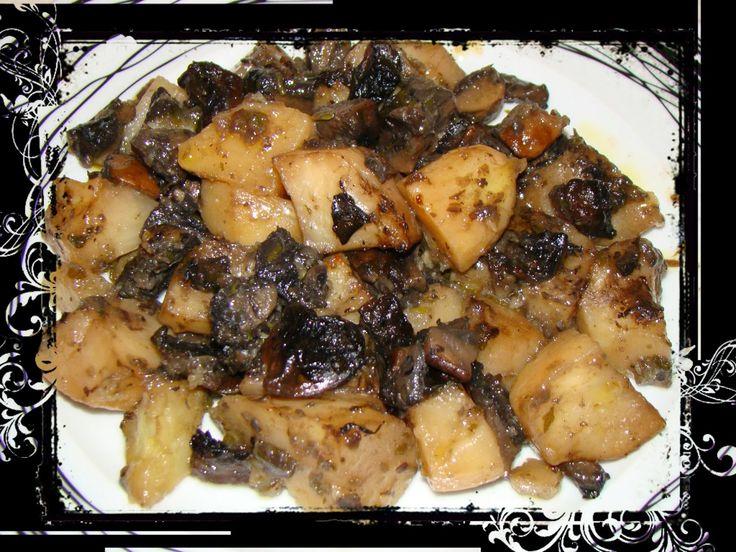 Πατάτες με μανιτάρια στο φούρνο   Olga'scuisine.gr