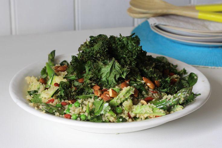 Organic spring vegetable salad