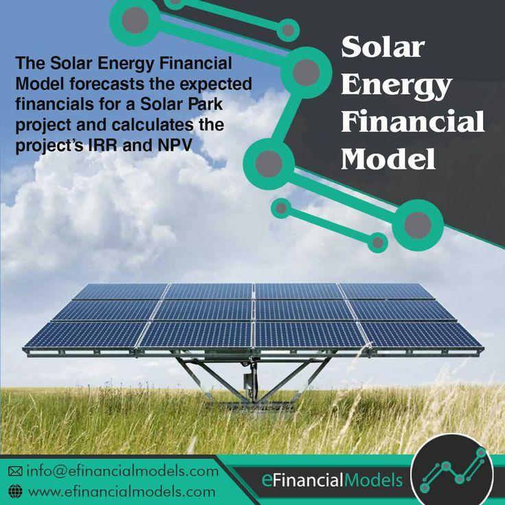 Renewable Energy Solar Park Financial Excel Model