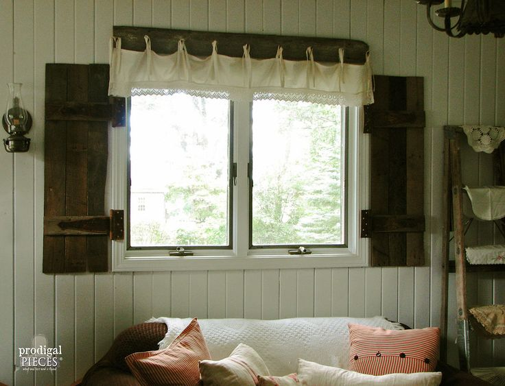 DIY: Barn Wood Shutters From Pallets