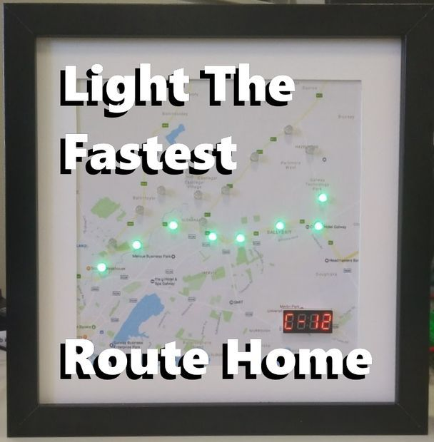 How to make an Arduino Commute Checker, a device that uses a ESP8266 to check the fastest way to get home from work! It will light up the fastest route taking into consideration traffic conditions using my Arduino Google Maps library.