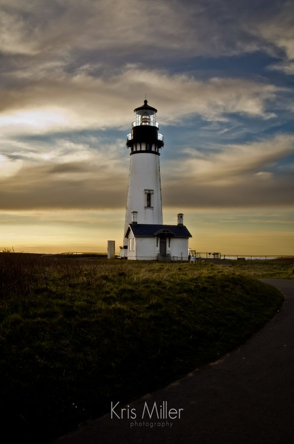 The tallest lighthouse in Oregon situated on